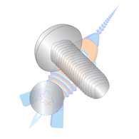 1/4-20 x 1-1/4 6 Lobe Pan Taptite Alternative Thread Roll Sc Fully Thrd 18-8 S/S Pass & Wax