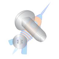 1/4-20 x 1/2 6 Lobe Pan Torx Taptite Alternative Thread Roll Sc Fully Thrd 410 S/S Pass &Wax