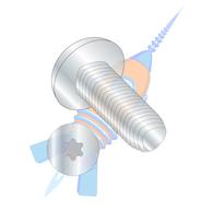 1/4-20 x 1-1/4 6 Lobe Pan Taptite Alternative Thread Rolling Screw Fully Thrd Zinc & Wax
