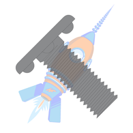 1/4-20 x 1 Weld Screw with Nibs Under The Head Fully Threaded Plain