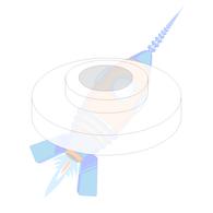 1/4 Shoulder Washer Nylon