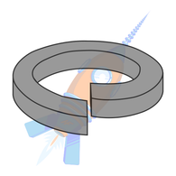 M10 Metric Din 7980 High Collar Split Lock Washer Thermal Black