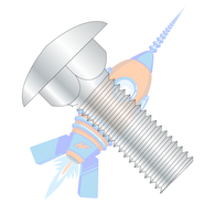 1/2-13 x 1-1/2 Carriage Bolt Fully Threaded Zinc