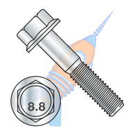 M10-1.5 x 25 DIN 6921 Class 8 Point 8 Metric Flange Bolt Screw Non Serrated Zinc Rohs
