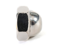1/4-28 Two Piece Low Crown Cap Nut Nickel