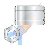 1-8 x 2-3/4 Hex Rod Coupling Nut 1-3/8 inch Across Flats Grade 5 Zinc