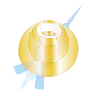 1/4-20 CE12698 Nylon Insert Flange Hex Locknut Grade 8 Zinc Yellow
