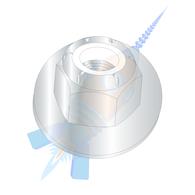 1/2-13 Nylon Insert Flange Stop Hex Lock Nut Zinc