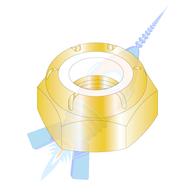 1-1/4-12 NTE Thin Pattern Nylon Insert Hex Lock Nut Fine Thread Zinc Yellow