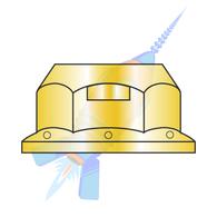 1/4-20 Regular Flange Top Lock Hex Nut Grade G Zinc Yellow
