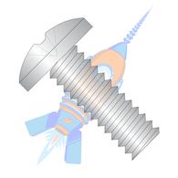 10-24 x 1/2 Phillips Binding Undercut Machine Screw Fully Threaded 18-8 Stainless Steel