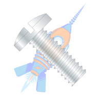 10-24 x 1/4 Slotted Binding Undercut Machine Screw Fully Threaded Zinc