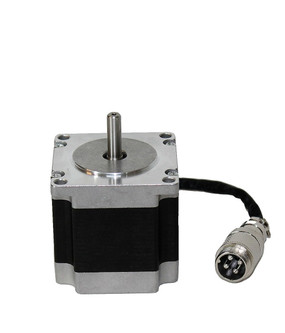 This is one of the most popular Nema 23 stepper motor, it with step angle 1.8deg and size 57x57x56mm. It has 4 wires, each phase draws 2.8A, with holding torque 1.26Nm (178.4oz.in).