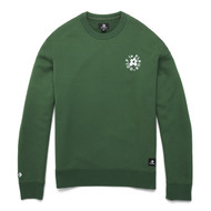 GOLF Le FLEUR ESSENTIAL EMBROIDERED CREWNECK  - GREEN