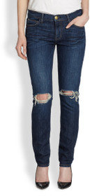 The Ankle Skinny Denim in Bedford Destroy
