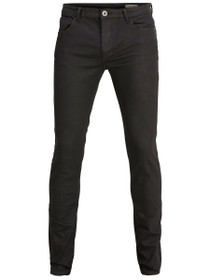One Fabios 3000 Skinny Denim in Coated Black