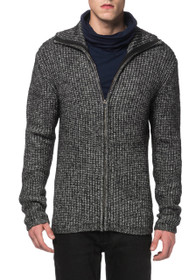 Thick Knit Zip Cardigan