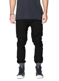 Dynamo Chino Jogger in Black