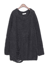 Lily Oversized Destroyed Sweater