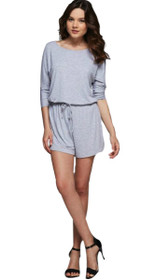Nova Long Sleeve Drawstring Playsuit