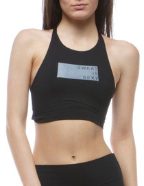 Paltrow Sweat Is Sexy Racer Sports Bra