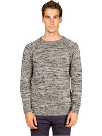 Marled Wool Raglan Crew Neck Sweater