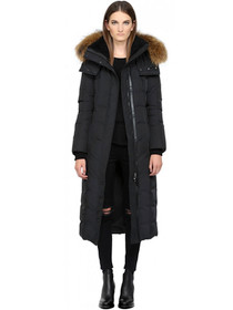 Jada Long Down Parka Coat with Fur Hood