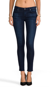 Legging Ankle Skinny Denim in Coal Grey