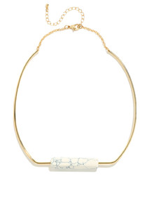 Marble Stone Collar Necklace