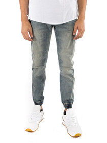 Pacific Denim Chino Joggers in Light Indigo