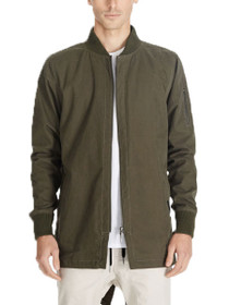 Aten Long Zip Bomber Jacket