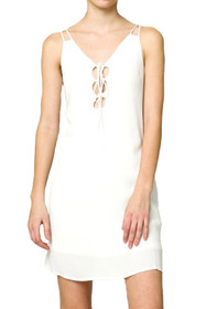 Liloh Lace-Up Shift Dress