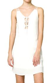 Liloh Lace-Up Shift Dress