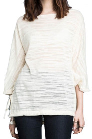 Atlantic Lace-Up Frill Sweater