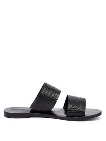Lucy Slide Croc Textured Sandal