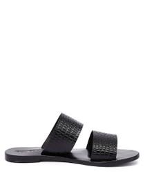 Lucy Slide Croc Textured Sandal