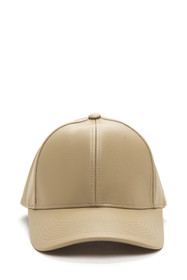 Brooklyn Faux Leather Baseball Cap
