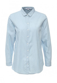 Chambray Oversized Button Up Shirt