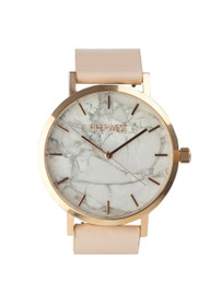 The Marble Minimalist Watch in Blush/Rose Gold