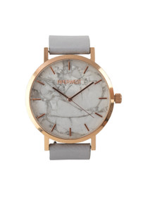The Marble Minimalist Watch in Grey/Rose Gold