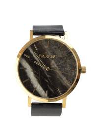 The Marble Minimalist Watch in Black/Gold