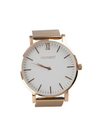 The Mesh Minimalist Watch in Rose Gold