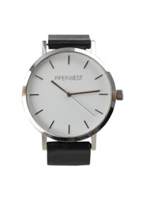 The Classic Minimalist Watch in Black/Silver