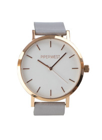The Classic Minimalist Watch in Grey/Rose Gold