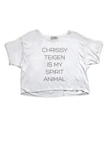 Chrissy Teigen Is My Spirit Animal Graphic Cropped Tee