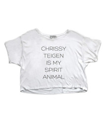 Chrissy Teigen Is My Spirit Animal Graphic Cropped Tee