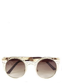 Flora Metal Cutout Sunglasses
