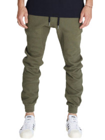 Waffle Flight Jogger Pant in Olive
