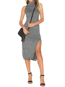 Temptation Hi-Neck Midi Dress