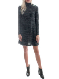 Heartbeats Mock Neck Long Sleeve Dress